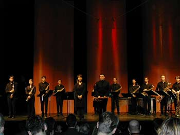 © CNSMDP - Grand Saxophone ensemble of the CNSMDP - Berio concert at the Theatre Mogador in Paris - January 2004